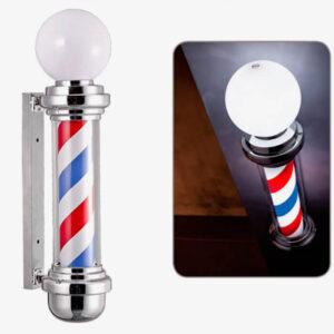 Melcap Barber Pole con sfera luminosa