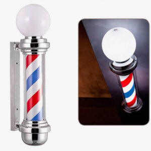 Melcap Barber Pole con sfera luminosa