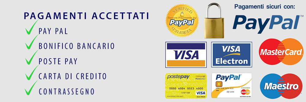 Pay pal contrassegno bonifico pagamento accettato