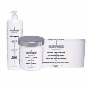 Envie kit con cheratina shampoo e maschera